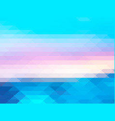 Blue pink rows of triangles background vector