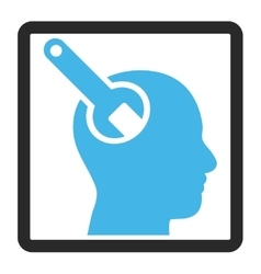 Brain Tool Framed Icon vector