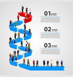 Business people standing in line vector