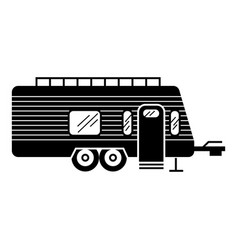 Camp trailer icon simple style vector