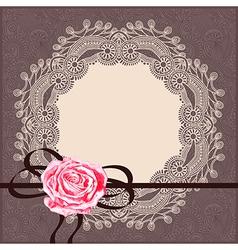 card pattern with circle napkin ribbon vector image