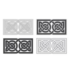 celtic horizontal knot ethnic ornament vector image