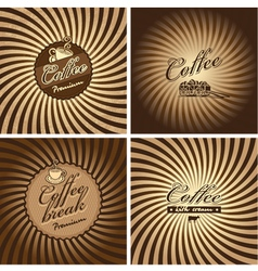 Coffee spiral vector