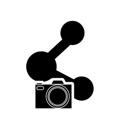 connection symbol and camera icon vector image