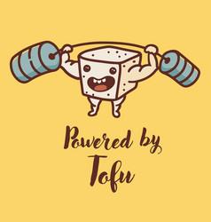 cute funny tofu character vector image