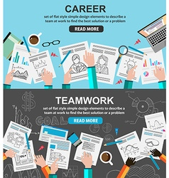 Design Concepts for team work and career vector image