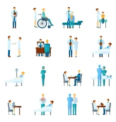 Doctor And Nurses Set vector image