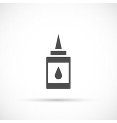 Doodle glue icon vector