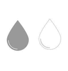 Drop set icon vector