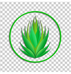 Ecological green icon or emblem logo plant vector