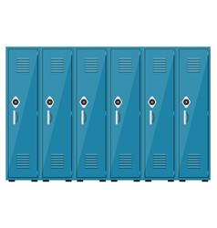 empty blue school lockers vector image