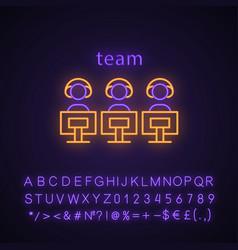 Esports team neon light icon vector