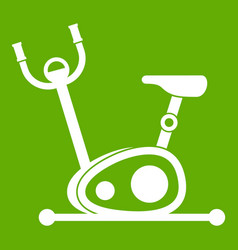 exercise bike icon green vector image