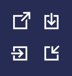 External link download login icons vector