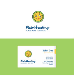 Flat bacteria on plate logo and visiting card vector
