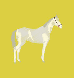 Flat shading style icon horse vector