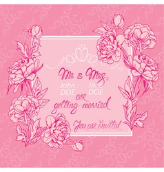 flowers pink card 3 380 vector image