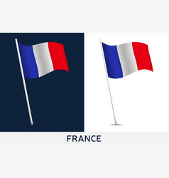 france flag waving national flag france vector image