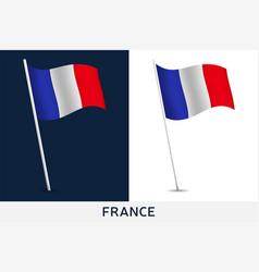 france flag waving national flag vector image