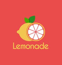 fresh lemonade slice logo design template vector image