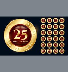 Golden anniversary logo collection premium design vector