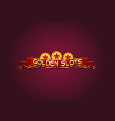 golden slot vector image