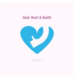 Good heart and Health logo design vector