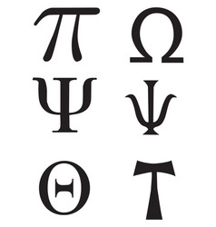 Greek signs and symbols - tattoo vector