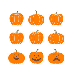 halloween scary pumpkins vector image