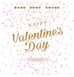 happy valentines day card design valentine vector image