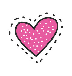 Heart patch icon vector