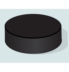 Hockey puck realistic vector image