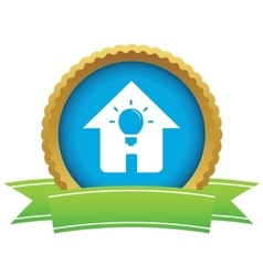 House light certificate icon vector