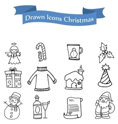 Icon of holiday theme set vector