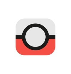 Isolated abstract red and grey color camera logo vector image
