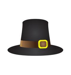Isolated pilgrim hat vector