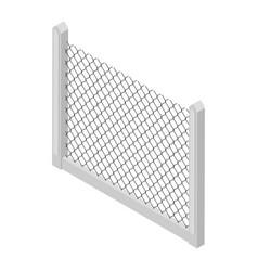 isometric fence vector image