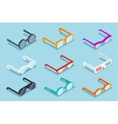 Isometric glasses vector