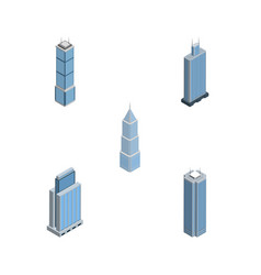 Isometric skyscraper set of exterior skyscraper vector