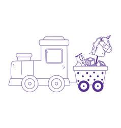 Kids toys train horse plane icon design white vector