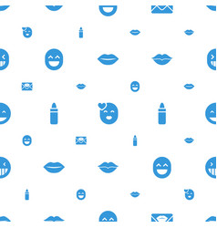 Kiss icons pattern seamless white background vector
