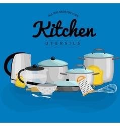 Kitchenware icons setCartoon kitchen vector image