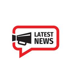 Latest news icon sign design newsletter blog vector