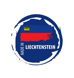 Liechtenstein flag on a white vector