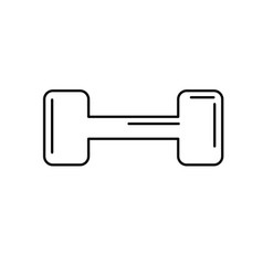 line dumbbell instrument to do exercise in the gym vector image
