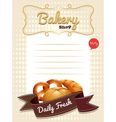 Line paper design with fresh bread vector