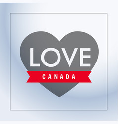 love canada with heart vector image