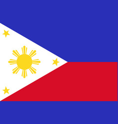 National flag philippines vector