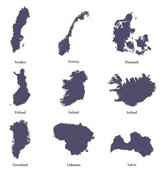 Northern europe vector