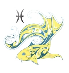 Pisces horoscope sign vector